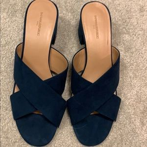 Banana republic navy suede slides